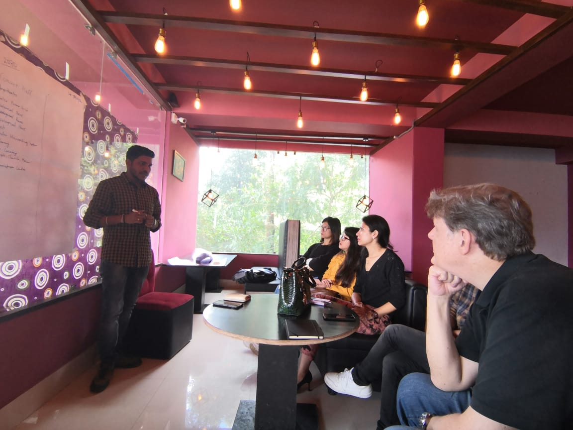 Avinow Kumar Ankit leads the Imagineering Team in a Planning Session