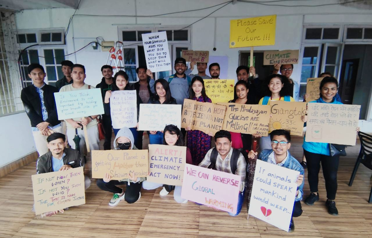 Gangtok Staff Preparing for the September Climate March