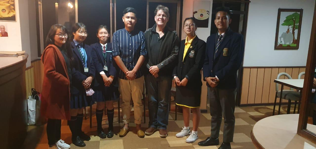 Sustainable Sikkim members meet with local youth climate activists